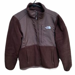 Brown fleece northface zip up